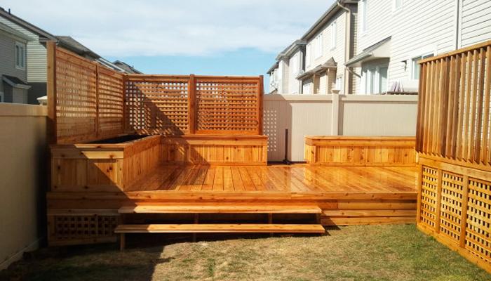 Patios prestige fences decks for Marche pour patio